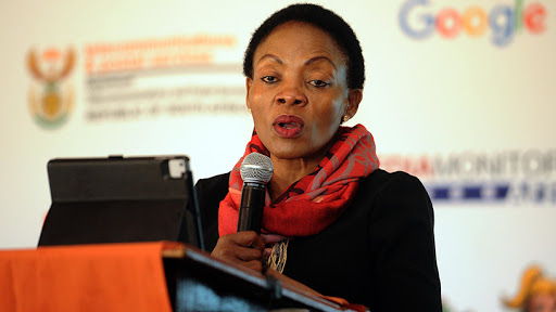 Communications and digital technologies deputy minister Pinky Kekana spoke at the Google CS First launch yesterday. (Photo source: GCIS)