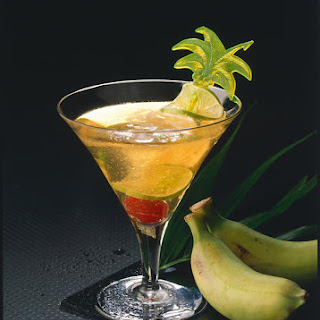 Banana Champagne Cocktail.