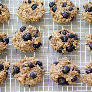 Clean Eating Banana Blueberry Cookies Recipe
