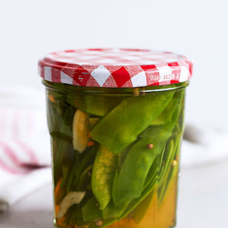 Pickled Snow Peas.