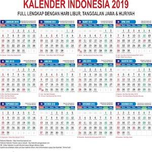 download kalender 2019 lengkap hijriyah