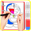 😍 Learn Drawing Doraemon icon