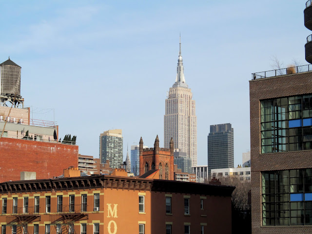 Empire State Building and General Theological Seminary tower