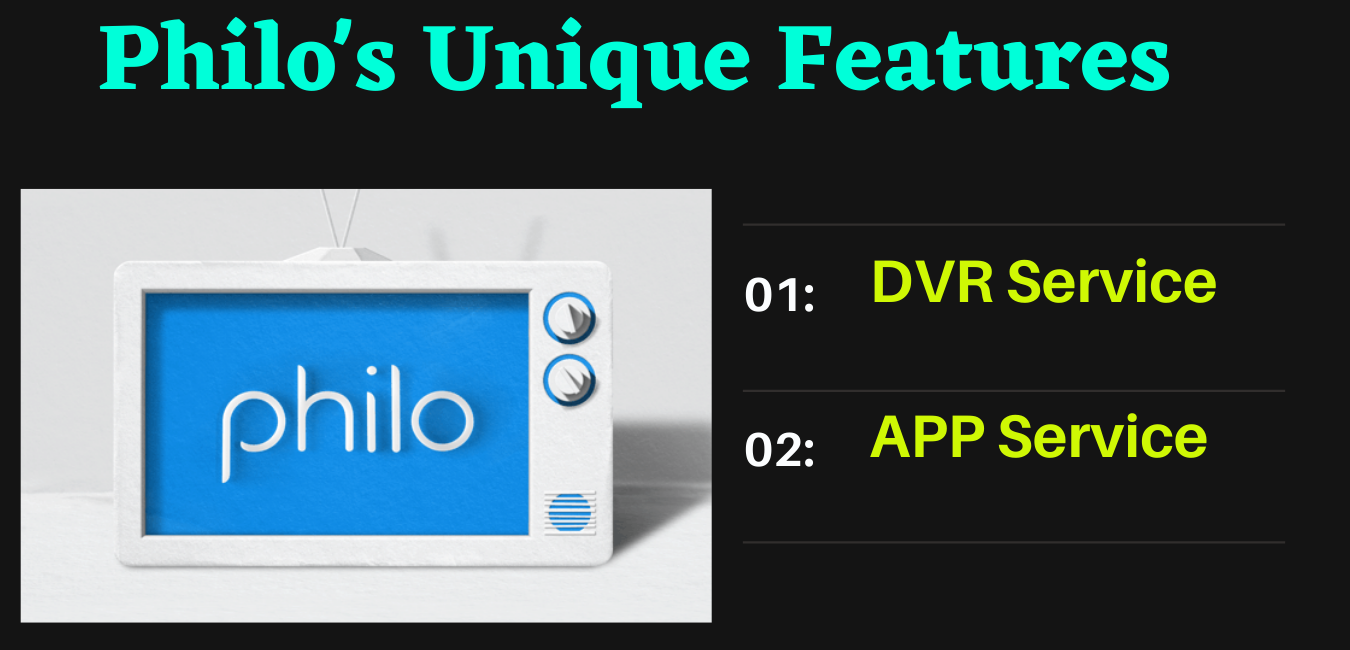 Philo TV features