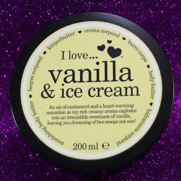 I love...vanilla - ice cream body-butter