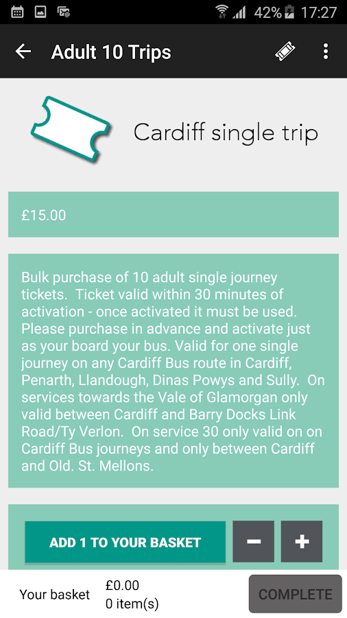 Cardiff Bus- screenshot