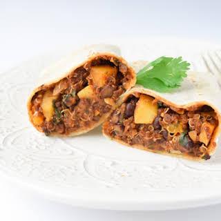 Copycat Amy's Vegan Quinoa Black Bean Burritos.