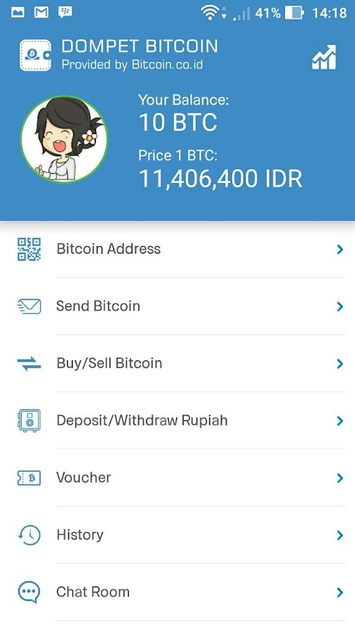 Dompet Bitcoin Indonesia- screenshot