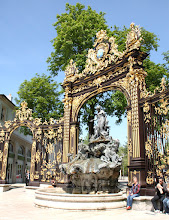 Photo: Day 23 - One of the Ornate, Gilt Corner Gates in the Place in Nancy