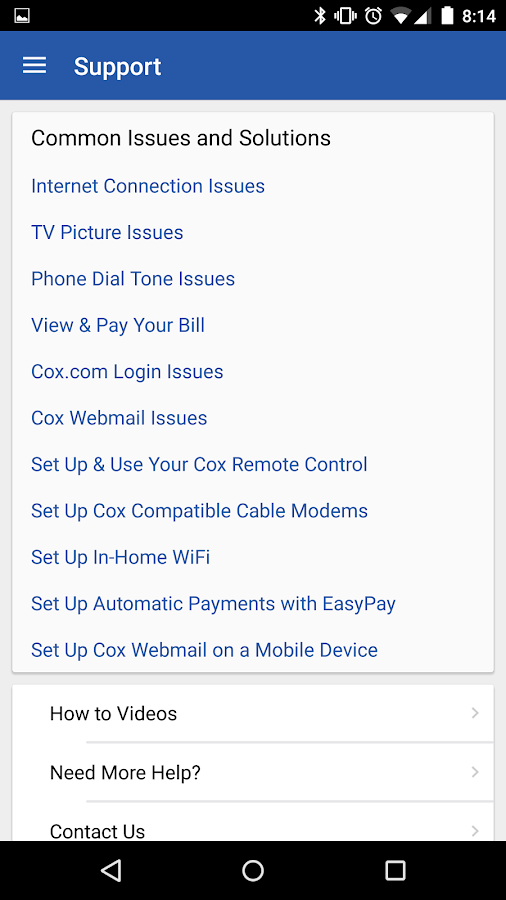 Cox Connect- screenshot