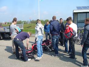 Photo: Aankomst veerhaven Texel