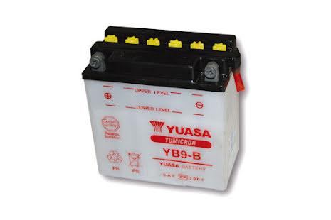 YUASA MC-batteri YB 9-B utan syrapack