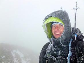 Photo: Self portrait, Blanca Peak (14,354'), 3:10pm, 01/07/2012. My seventh time on Blanca Peaks's summit. First time in winter.