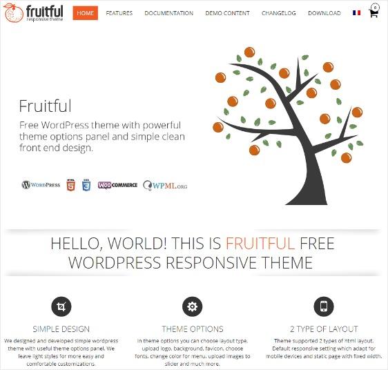 Fruitful Free WordPress Theme