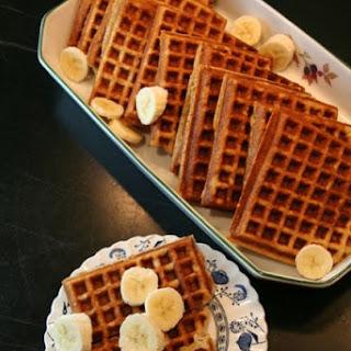 Low-Fat Oat & Whole Wheat Buttermilk Waffles.
