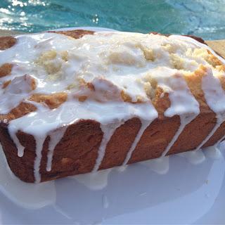 Moist Limoncello Cake with Limoncello Glaze.