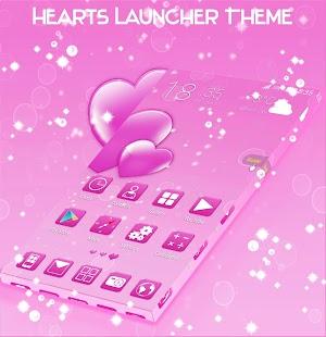 Hearts Launcher Téma - náhled