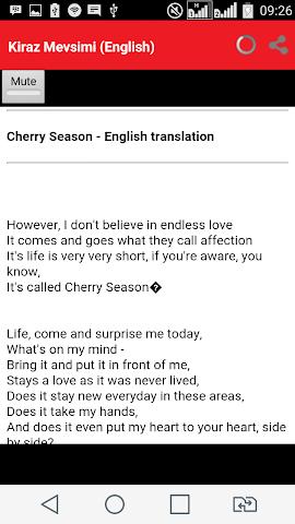 android Lirik Lagu Kiraz Mevsimi Screenshot 3