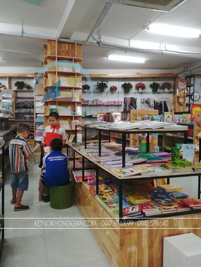 thiết kế thi công nội thất nhà sách Trí Đức 18