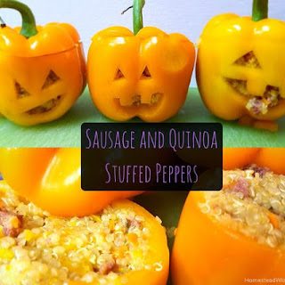 Sausage Quinoa Stuffed Peppers