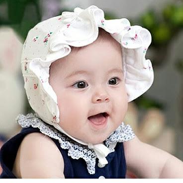 田園風格純棉公主娃娃bb帽H274(白色選)現貨包郵