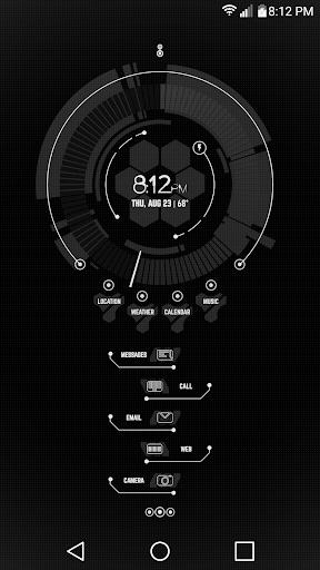 CMX - Minimal Tech Arc u00b7 KLWP Theme v1.0 Screenshots 1