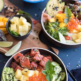 Tuna and Salmon Poke Bowls.