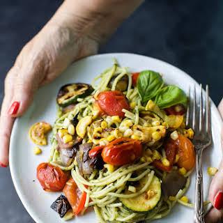 Basil Pesto Pasta With Vegetables Recipes.