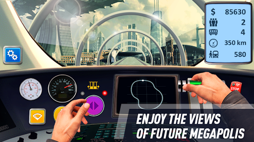 Future train driving game (apk) free download for Android/PC/Windows screenshot