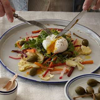 Sweet and Sour Vegetables with Poached Egg