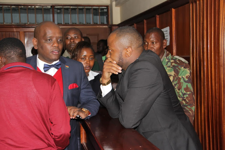 Jowie at the Milimani law courts on Tuesday, June 25, 2019.