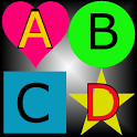 Colorful words icon