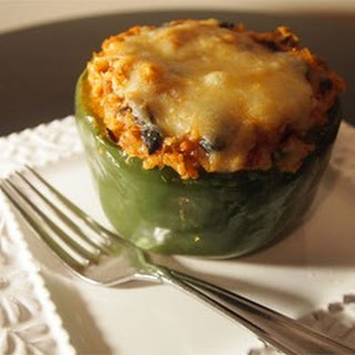 Vegetarian Mexican Inspired Stuffed Peppers