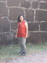 Photo: Patcy ... Reporting for Rediff from Vijaydurg