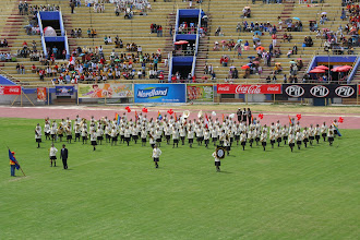 Photo: An all-girls band from Cusco, Peru.  They did the most play-n-march that we saw.