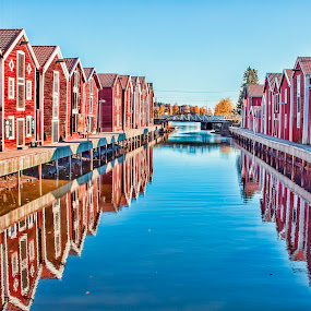 Old houses at the harbor. by Konrad Ragnarsson - Buildings & Architecture Public & Historical ( houses, harbor, konni27, sea, ocean, old-houses )