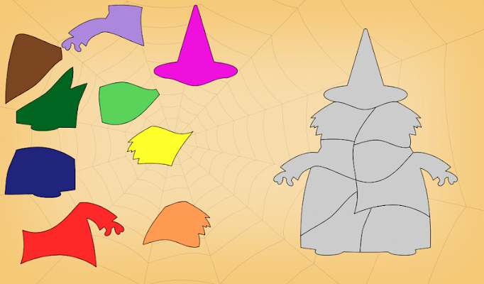 Kids Shape Puzzles Halloween - screenshot