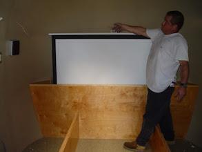 Photo: retractable projector screen