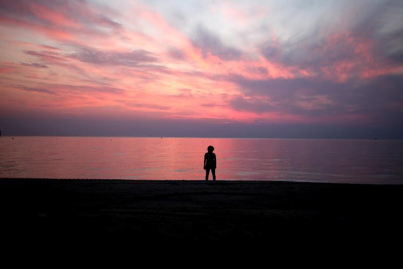 solitaria contemplazione di un'alba abruzzese di aritex