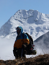 Photo: Matt in Hunku valley