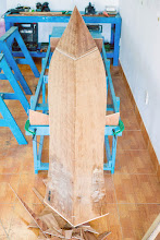 Photo: stitching begins with the bottom bilges