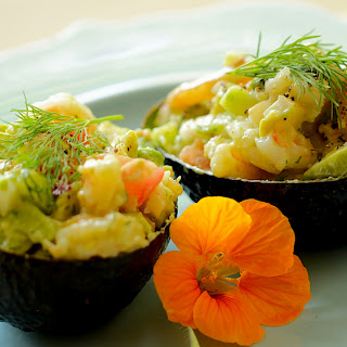 Avocado Shrimp Salad Cups.