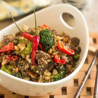 Beef and Broccoli Cauli-Rice.