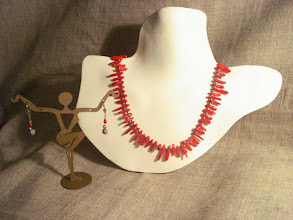 Photo: <BEREHYNYA> {Great Goddess Protectress} unique one-of-a-kind statement jewellery by Luba Bilash ART & ADORNMENT  Red coral, silver plate, sterling silver SOLD/ПРОДАНИЙ