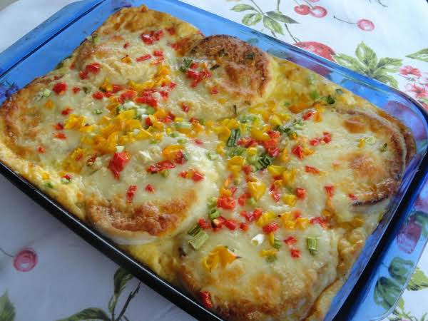Crabby Patty Brunch Bake