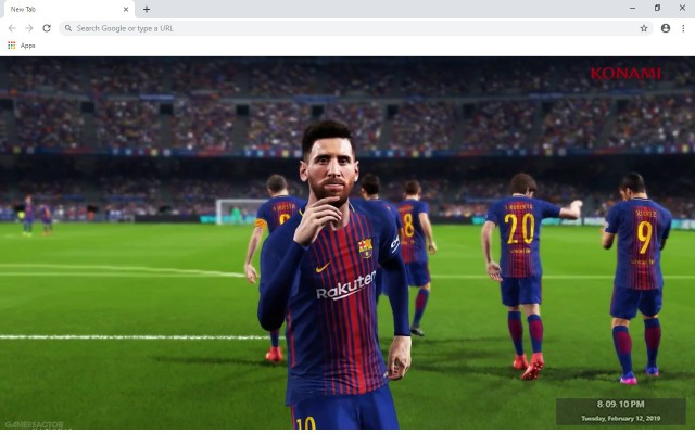 Pro Evolotion Soccer 2019 New Tab