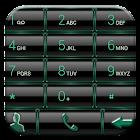 Dialer GlassMetalFrameBGreen icon