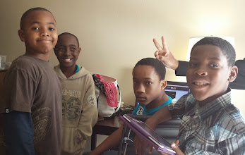 Photo: the boys - why is Kalonji making rabbit ears over Jihad?