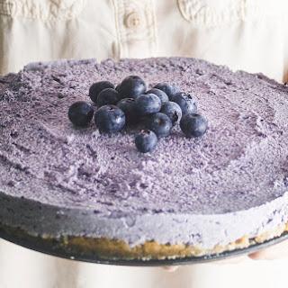 Frozen Blueberry Cheesecake.