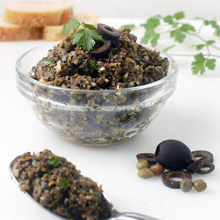 Garlic Black Olive Tapenade with Parsley.